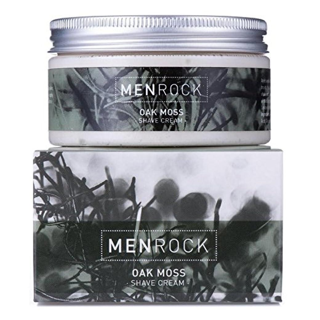 ログ離れて恐れ男性の岩シェーブクリーム - オークモス x4 - Men Rock Shave Cream - Oak Moss (Pack of 4) [並行輸入品]