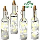 alles-meine.de GmbH 1 Stück _ LICHT Dekoflasche - 10 Stück LED -  Motiv - Mix  - Flasche mit Licht - Batterie betrieben - Dekolicht - Weihnachten / Sommer & Winter - Dekoration..