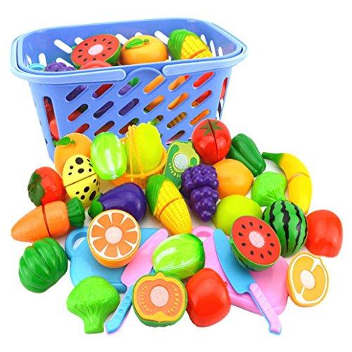 Juego de 6 piezas de cocina de pretender, reutilizable, juego de rol, cortar frutas y verduras, divertido juguete educativo para nios, desarrollo de habilidades bsicas