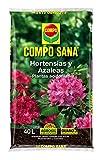 Compo Sana 8 semanas de abono para Azaleas, ericas, Camelias y hortensias, Substrato de Cultivo, 40 L