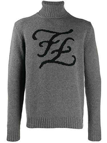 Fendi Luxury Fashion Herren FZY019A93VF0AP3 Grau Wolle Sweater | Herbst Winter 19