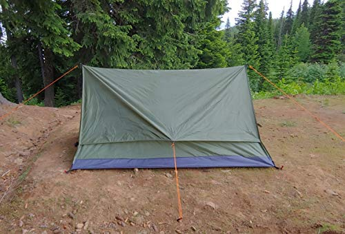 River Country Products Trekker Tent 2.2 Combo with Trekking Poles, Two Person Trekking Pole Backpacking Tent with Trekking Poles - Green