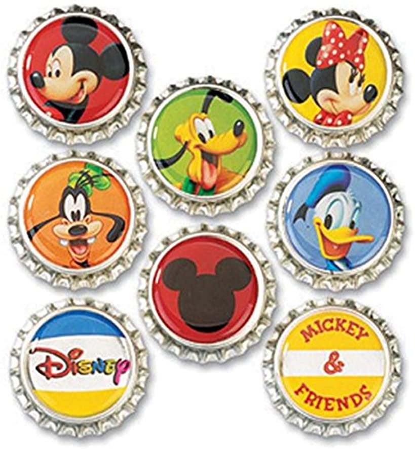 EK Success Disney Bottle Caps, Mickey, 8/Pack