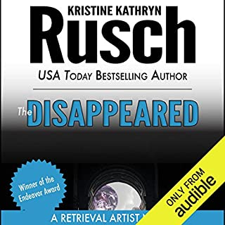 The Disappeared     A Retrieval Artist Novel              By:                                                                                                                                 Kristine Kathryn Rusch                               Narrated by:                                                                                                                                 Jay Snyder                      Length: 10 hrs and 9 mins     596 ratings     Overall 3.9