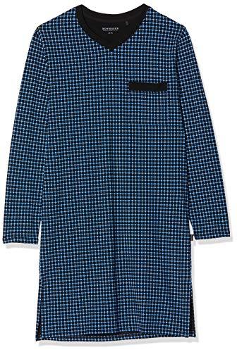 Schiesser Herren Nachthemd lang Pyjamaoberteil, Blau (Royal 819), 46