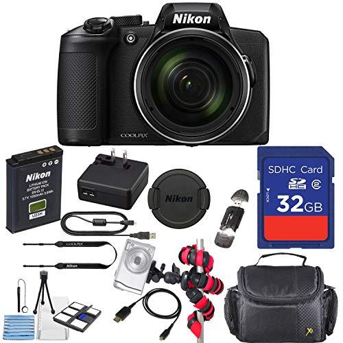 Nikon COOLPIX B600 Digital Camera (Black) with 32GB Memory Accessory Kit