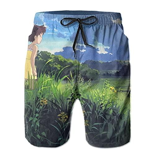 Inaayayi My-Nei-GHB-Or-Tot-Oro - Pantalones cortos de playa informales para hombre, pantalones cortos clásicos de baño de secado rápido, con múltiples bolsillos y forro de malla