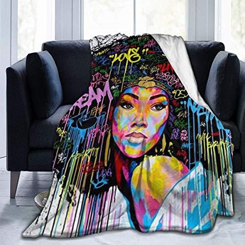 Shichangwei American Girl - Manta de felpa para cama y sofá