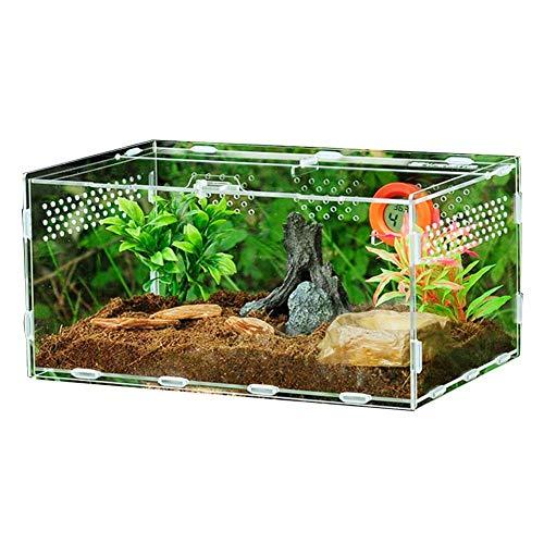 Transparente Reptilienbox Acryl Reptilienzuchtbecken Terrarium Für Echsen-Spinnen-Schlangenfrosch