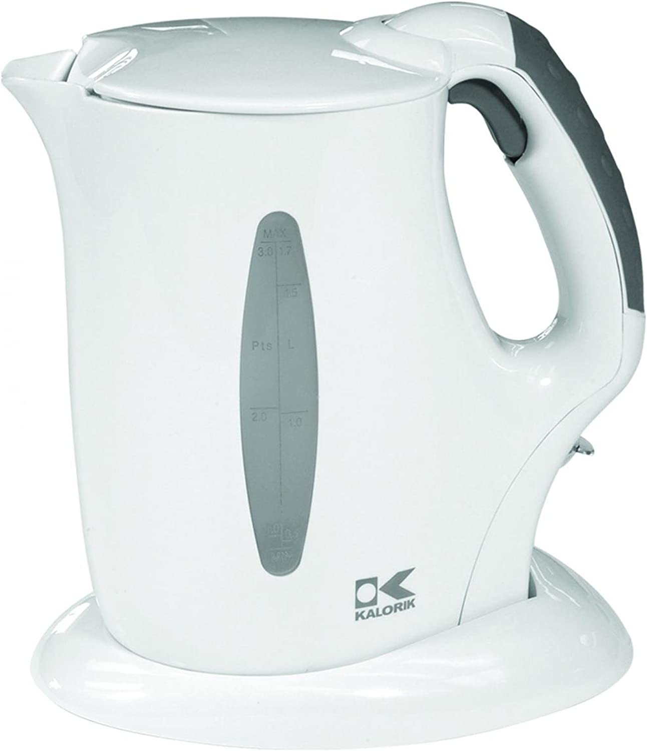 Kalorik Cordless Jug Kettle, White, 57-Oz.
