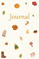 """Journal ~ Fall Cartoon: 6"""" X 9"""" College Ruled and Dot Grid Journal 128 pages Paperback"""