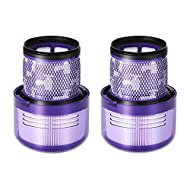 Washable Replacement Dyson V11 Vacuum Cleaner Motor HEPA Filters, made of high strength and eco-friendly material. Compares to OEM part No: 970013-02 & 97001302. Simple, trouble-free filter exchange. Compatible with Dyson V11 Cyclone series, V11 Abso...