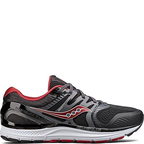 Saucony Men's Redeemer ISO 2 Running Shoe, Grey Black, 10.5 W US