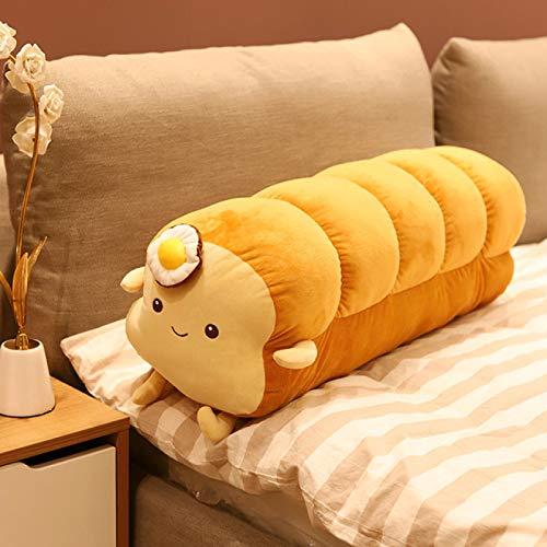 YYZZ Almohada de Felpa, Almohada de Comida simulada Relleno de Felpa Tostada Pan de Juguete Sofá Decoración Creativa Almohada de Pan Largo Cojín para Dormir Decoración de la habitación Chica