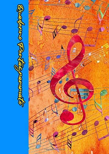 Quaderno Pentagrammato: Quaderno di musica 100 pag. 12 pentagrammi per pagina