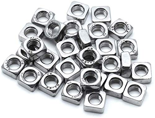 Yoohey 90-Pieces M3 M4 M5 Stainless Steel Square Nuts