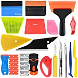 Zanch Window Tint Tools Vinyl Wrap Tool Kit Corner Shower Shank Card Felt Tinting Wrapping Squeegee Razor Scraper Cutter Knife Household Car PPF Glass Protective Film Installation Application Solution