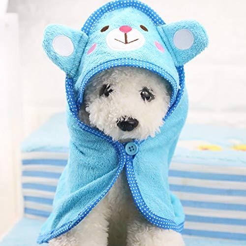 PoeHXtyy Toalla de baño rápida Seca del Animal doméstico Que Absorbe rápidamente el Albornoz del baño del Agua para el Perro y el Gato