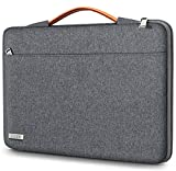 TECOOL Funda Ordenador Portátil para 14 Pulgadas HP/Lenovo/DELL/Acer/ASUS Notebook Chromebook, 15 Surface Laptop 3, 2016-2019 MacBook Pro 15 Bolsa Blanda con Manija Retráctil, Gris Oscuro