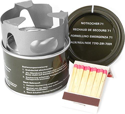 normani Schweizer Notkocher M71 mit Brennpaste und Streichhölzern