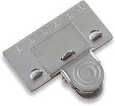 bibididi Multifunctionele RVS Meetlint Clip Tool Voor Hoeken Klem Houder Precisie Meetgereedschap,Liniaal Bevestigingscli...