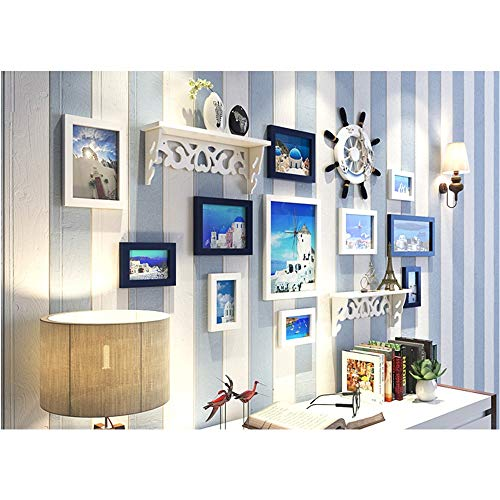 Shangfu Decoration Decoration Background Wall Mediterranean Decorative Photo Wall Living Room Bedroom Picture Frame Photo Frame Combination Hanging Wall DIY