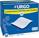 Urgo - Compresses stériles - Non tissées - Boîte de 50 sachets de 2 compresses -...