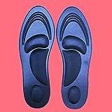 Tienda de Verano 1 par 4D Sport Sponge Plantilla Suave del tacón Alto Almohadilla de Calzado Alivio de Alivio del Dolor de Alivio de la Mujer (Negro) (Color : Dark Blue, Size : One Size)