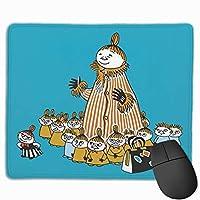 Cx商業® ムーミン マウスパッド マウスマット 方形 スクエア 25*30*0.3cm ミニ オフィス用 事務所机用 ノンスリップ 滑り止め ゲーミング ノートパソコン パターンマウスパッド デスクトップマウスパッド ゴム底 個性 光学マウス対応