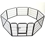 Heavy Duty Pet Dog PlayPen Puppy Exercise Play Pen Fence Enclosure Gate 8