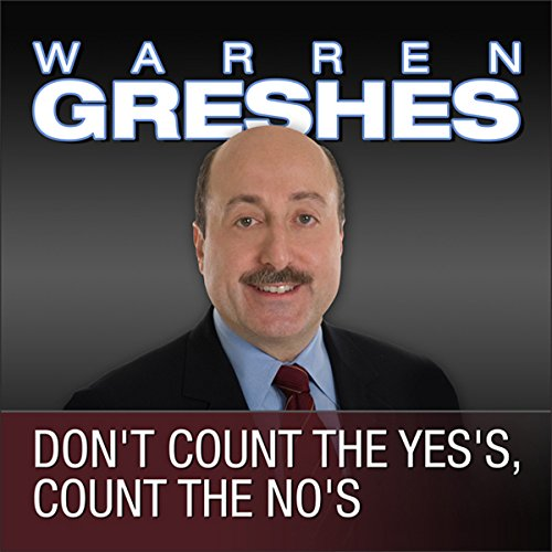 Don't Count the Yes's, Count the No's audiobook cover art