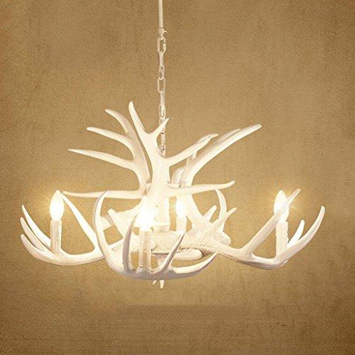 & Perfect ** - lámpara de astas americana país sala de estar comedor blanco araña bar mediterráneo antigüedades creativa creativa chandelier