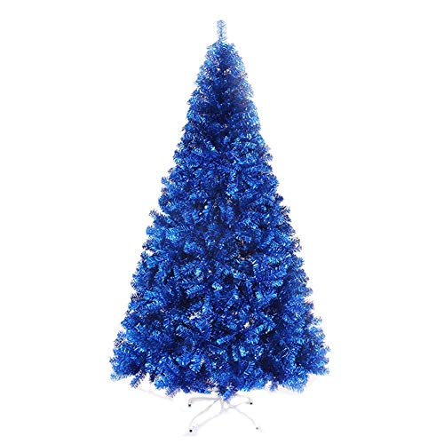 ZHAS Blue artificial Christmas tree with decoration, premium spruce with metal Stand Eco-friendly Christmas tree for holiday blue 5ft (150 cm)