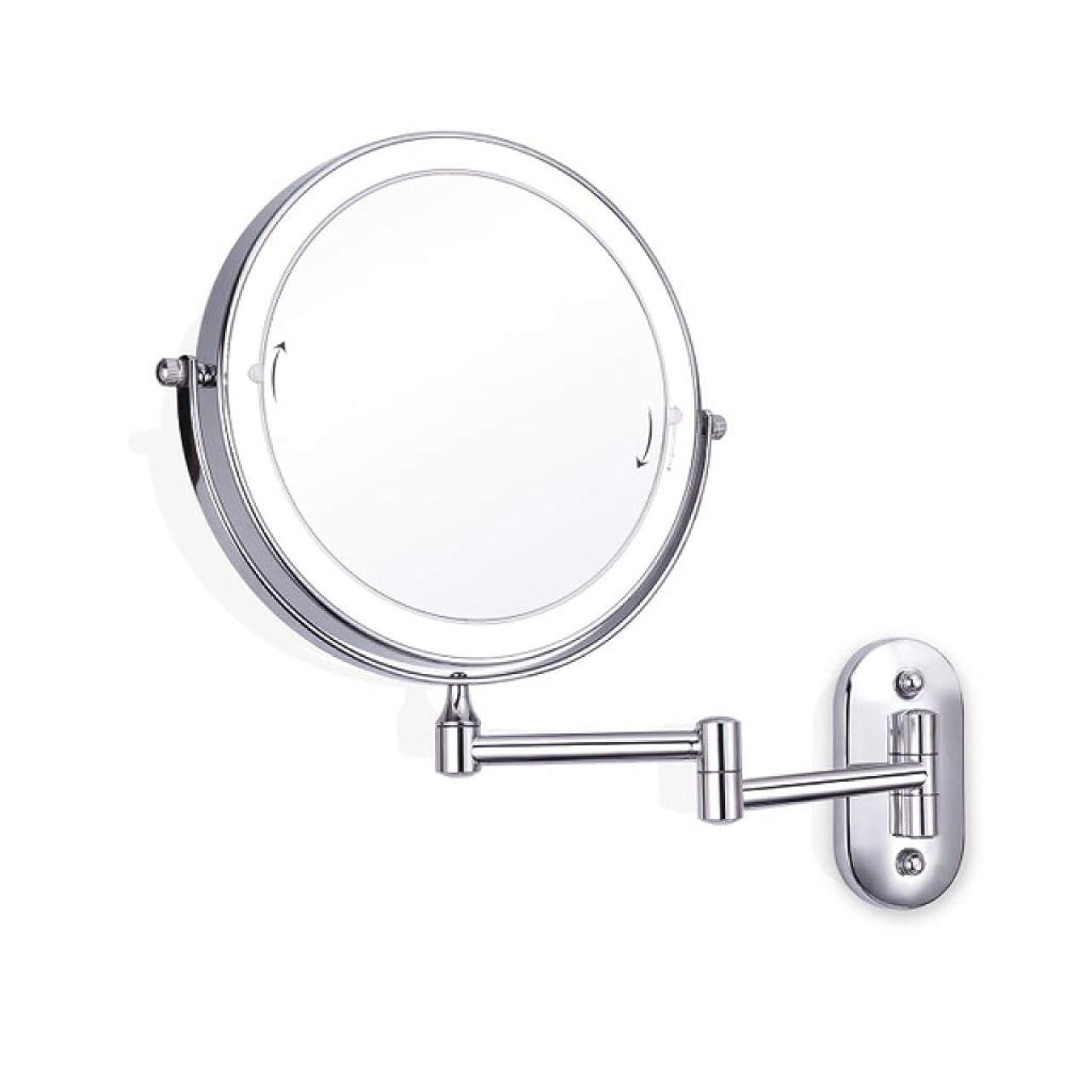 懇願する弁護士空いているALYR LEDが点灯 バスルームミラー、両面 化粧鏡 10 ズームイン 化粧鏡 スケーラブル 化粧鏡バスルームホテル,Silver