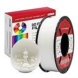 PLA Filamento de Blanco 1.75mm para 3D Impresora Impresión Dimensional +/- 0,02 mm1kg1 Bobina