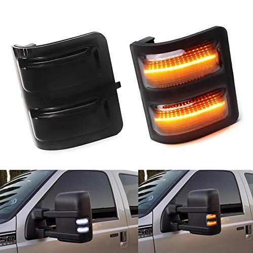 LED Side Mirror Running Signal Lights Smoked Lens (L&R) For Ford F-250 F-350 F-450 F-550 Ford Super duty 2008 2009 2010 2011 2012 2013 2014 2015 2016