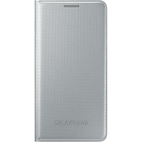 SAMSUNG EF-FG850BSEGWW Galaxy Alpha Flip Case für Smartphone Silber