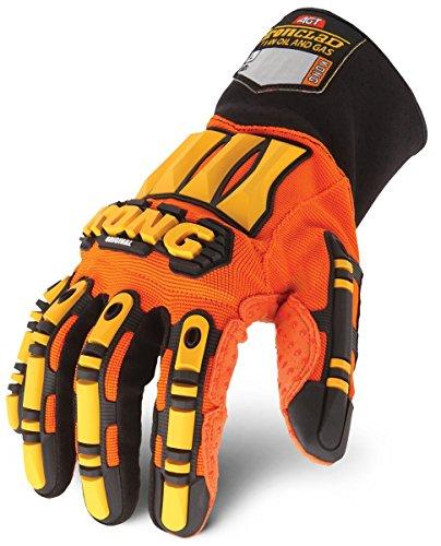 Ironclad KONG SDX2-05-XL Original Oil & Gas Safety Impact Gloves, X-Large , Orange