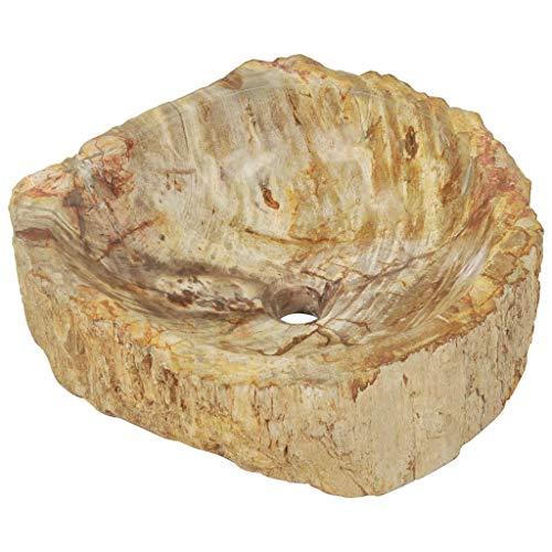 Festnight Lavabo Piedra Fregadero Piedra Fósil para Baño y Jardin Piedras Decorativas...