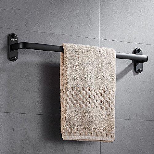 Porte-serviettes de style européen Salle de bain Porte-serviettes en aluminium Barre à serviette simple à un poteau/salle de bains