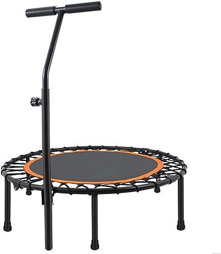 HANSHAN Gartentrampoline Trampolin, Fitness-Trampolin Mit Verstellbarem Griff 2 Farbe 4 Größe (Farbe   schwarz Orange, Größe   45×10inch)