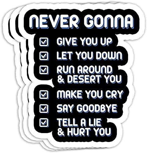 Never Gonna Give Indefinitely You Up - Retro Denver Mall Valentine Music 80s Lyrics Gift