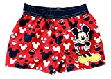 For Babies Mickey Mouse Red Swim Trunks with Iconic Mickey Heads,...