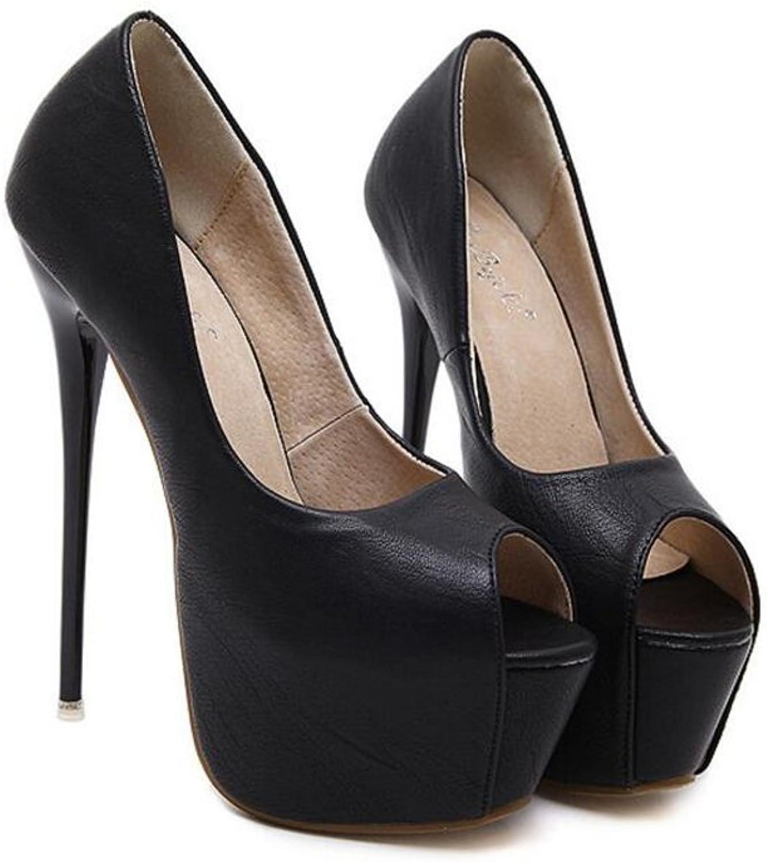 Women's Classic Fashion Open Toe High Heel Dress Pumps shoes Causal Heels