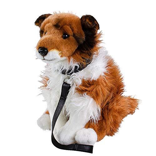 Teddys Rothenburg Border Collie Kuscheltier Hund sitzend 35 cm Plüschtier