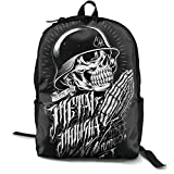 Stmxsonaiel Me-Tal Mu-Lis-Ha Canvas Backpack College School Backpack Casual Daypack Pattern