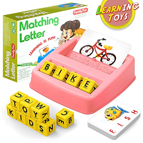 HahaGift Educational Toys for 2-5 Year Old Girl Gifts, Matching Letter Learning Games Activities, Christmas Birthday Gift for Toddler Kids Age 1 2 3 4 5 Year Olds Girls