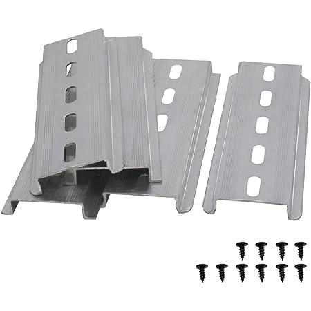 Taiss 5 Stücke Din Schiene Schlitz Aluminium Rohs Niemals Rosten Für Verteilerschrank Schaltschrank Einbau 35mm Breit 7 5mm Hoch Lang 200mm 8 Baumarkt