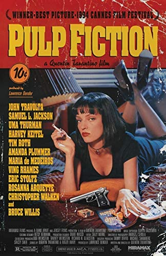 Pulp Fiction Poster 11 x 17 inches Premium Matte Silk Poster product image
