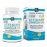 Nordic Naturals Ultimate Omega-D3, Lemon Flavor - 1280 mg Omega-3 + 1000 IU Vitamin D3-60 Soft Gels - Omega-3 Fish Oil - EPA & DHA - Promotes Brain, Heart, Joint, Immune Health - 30 Servings